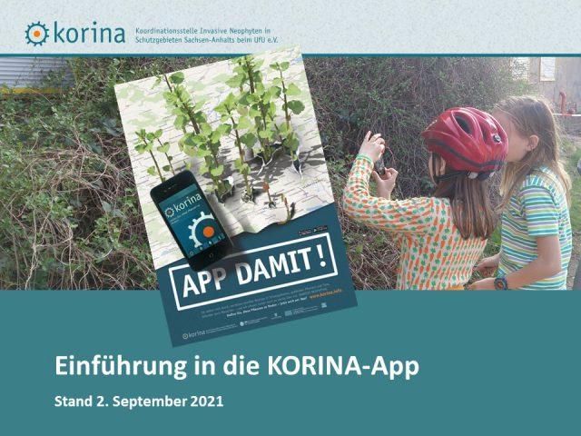 Link zu PDF-Datei zur Einführung in die KORINA-App